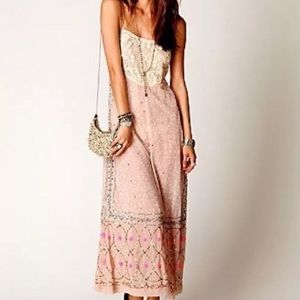 RARE Free People Embellished Sequin Lace Romper